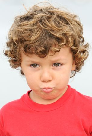photo of an adorable boy sad and gotten upset Stock Photo - 650833