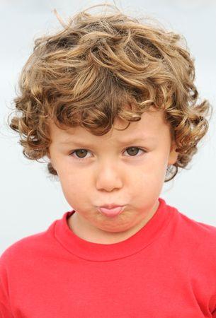 photo of an adorable boy sad and gotten upset Stock Photo - 650833