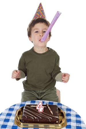chocolaty: photo of an adorable  kid celebrating his birthday
