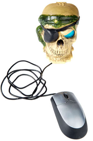 a photo to give the concept of computer science piracy Stock Photo