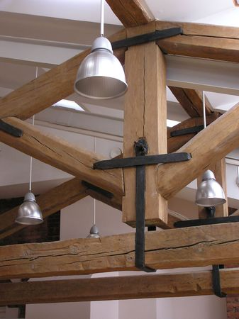 Lamps and roof timbers