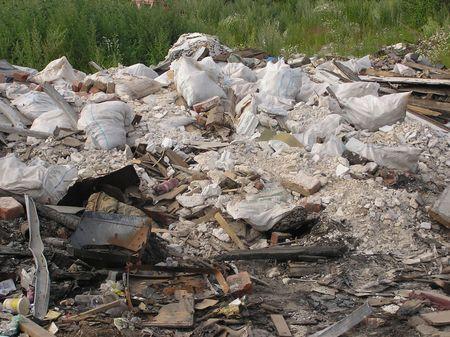 Rubbish on a landfill