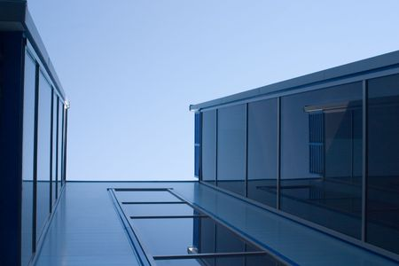 Glassed blue constructions Stock Photo - 453459