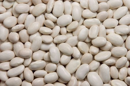 Background of white kidney beans Stock Photo