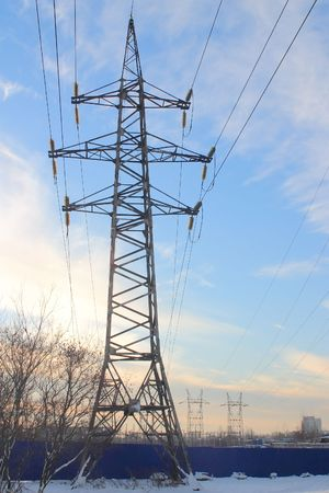 A-frame support of power transmission line Stock Photo - 664672