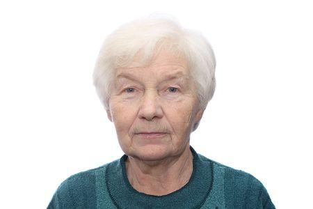 Portrait of senior woman, isolated on white background Stock Photo - 1237396