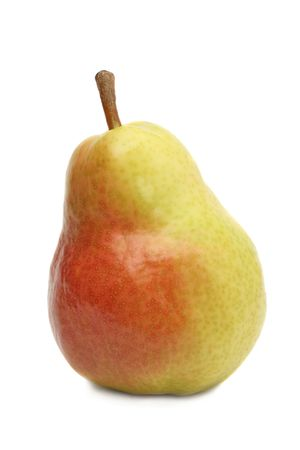 Red and yellow pear, isolated on white background Stock Photo - 3117761