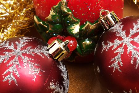 Christmas ornaments and decoration photo