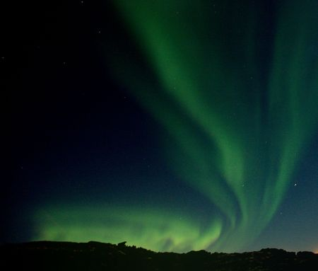 reykjavik: Luces norte�as Reykjavik excesivo Foto de archivo