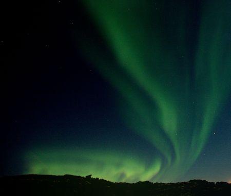northern light: Northern Lights over Reykjavik