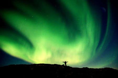 Touching the Aurora Borealis Stock Photo - 728877
