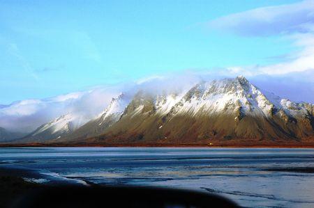 island�s: Glaciar island�s Foto de archivo