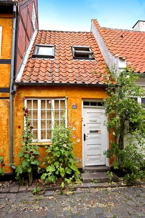 Old Danish houses photo