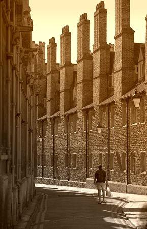 Old street, Cambridge, England Stock Photo - 589240