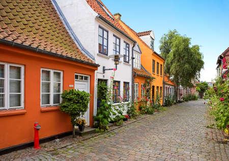 Old Danish houses Stock Photo