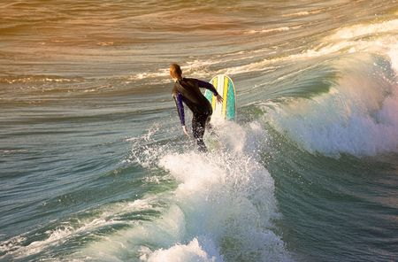 laguna: Surfing Stock Photo