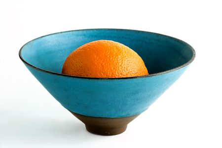 Orange in a bowl photo