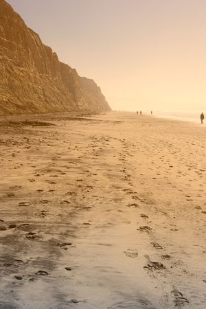 Photo of early sunset at Torrey Pines Beach, California photo