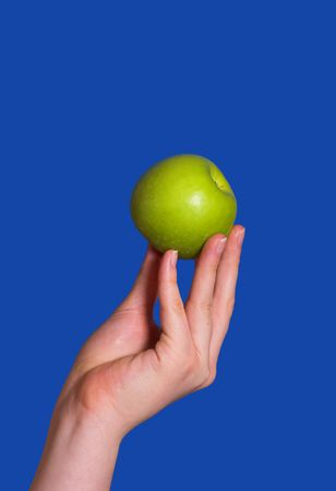 losing knowledge: Apple of wisdom in a female hand