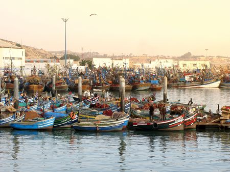 Fishing boats in Agadir, Morocco, Africa photo