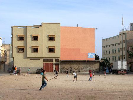 shanty: Urban area (Agadir) in Marocco, Africa Stock Photo