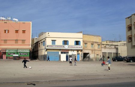 shantytown: Urban area (Agadir) in Marocco, Africa Stock Photo