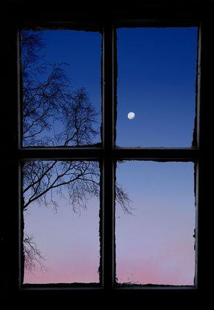 Outside old window Stock Photo