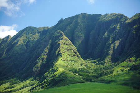 oahu: Panoram photos of Hawaiian landscape (Oahu) Stock Photo