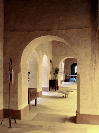 middleages: Details of classic arab architecture Stock Photo