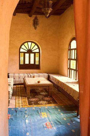 Inside traditional luxury Arab house photo