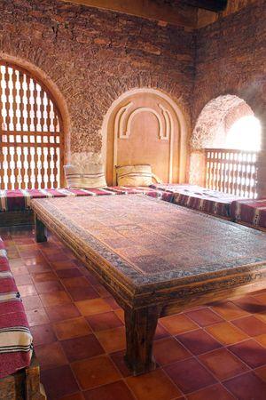 homelike: Inside traditional luxury Arab house Stock Photo