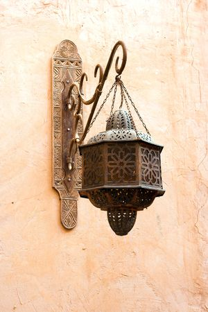 historical architecture: Old classical Arab wall lamp