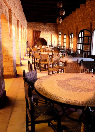 fascinate: Fashionable arab restaurant a sunny day