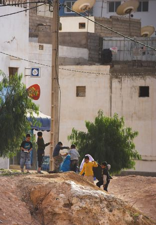 slum: Editorial: Photo of urban slum in Palestine