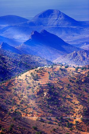 large formation: Mountain area in the southern part of Morocco Stock Photo
