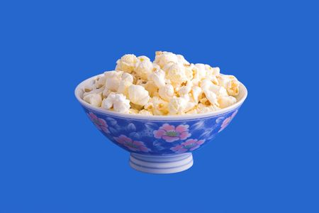 Popcorn Chinese still (on blue background) photo