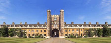 college professor: Photo from Cambridge University, England Stock Photo