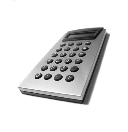 function key: Close-up photo of silver colored calculator