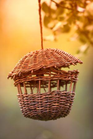 A photo of a hanging bird table (garden type) photo