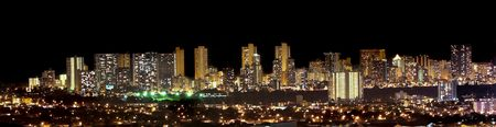 A panorama photo of Honolulu skyline at night Stock Photo - 997018