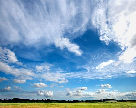 A photo of the blue, cloudy sky at the countryside Stock Photo - 1280298