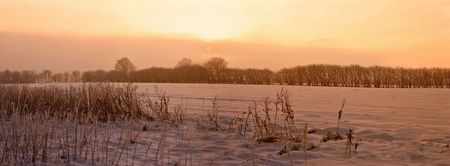 A photo of sunrise early winter morning Stock Photo - 1298721