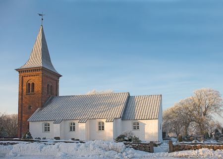 A photo of a Danish church in wintertime Stock Photo - 1280463
