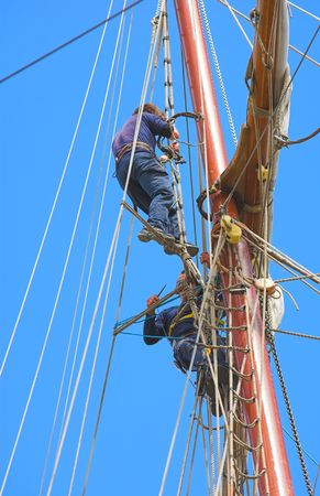 A telephoto of an old, tall sailing boat Stock Photo - 1311091