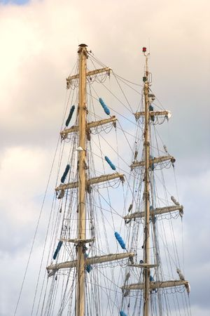 A telephoto of an old, tall sailing boat Stock Photo - 1356169