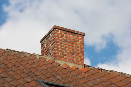 dilapidation: An old chimney on a private house