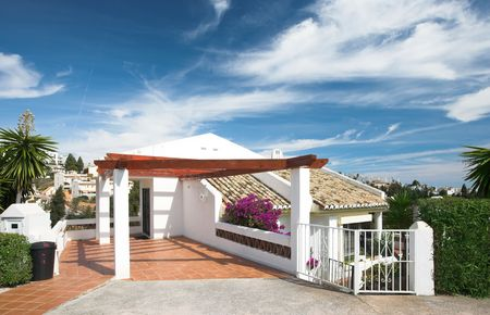 del: Photo of luxury living in Costa Del Sol, Spain Stock Photo