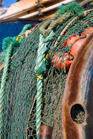A photo of old colorful fishing gear photo