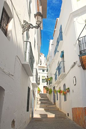 spanish village: A photo of a beautiful, typical Spanish village