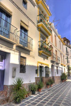 sol: A cityscape photo of a traditional Spanish village (Costa Del Sol area)